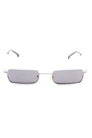 Komono eckige Sonnenbrille silberfarben Casual-Look