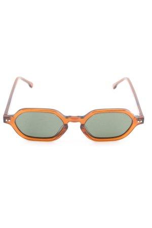 Komono Gafas de sol cuadradas naranja claro-color bronce look casual