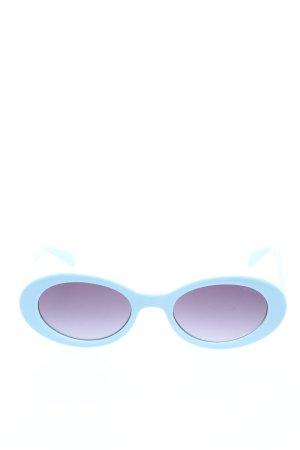 Komono Lunettes de soleil ovales bleu style décontracté