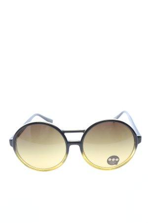 Komono runde Sonnenbrille schwarz-blassgelb Casual-Look