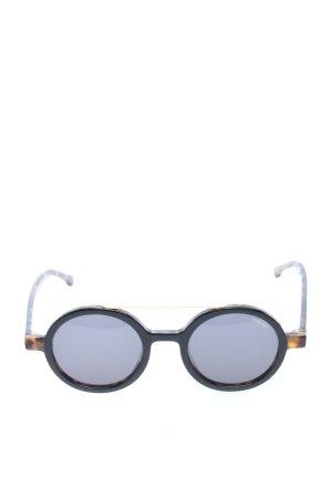 Komono runde Sonnenbrille schwarz-braun Animalmuster Casual-Look
