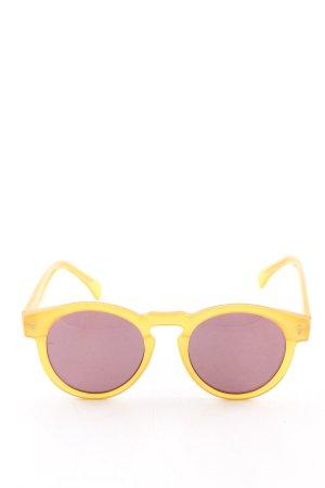 Komono runde Sonnenbrille blassgelb-pink Casual-Look