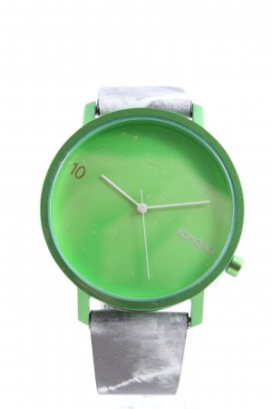 Komono Watch With Leather Strap green-light grey casual look