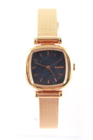 Komono Horloge met metalen riempje goud-zwart zakelijke stijl