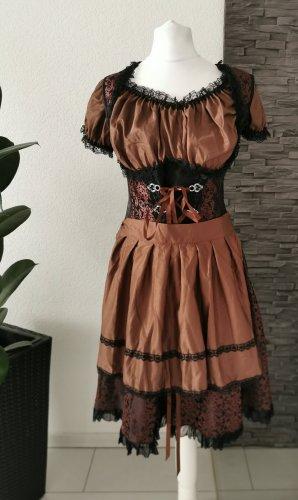 Komplett Dirndl Trachtenkleid Minidirndl Bluse Schürze Kleid Oktoberfest