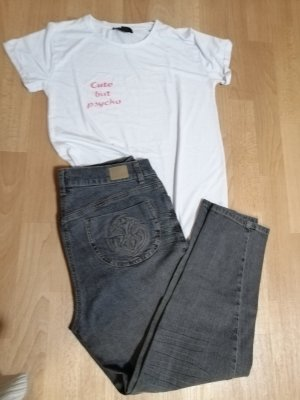 Atmosphere Shirt met print wit-donkergrijs