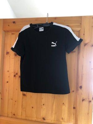Puma Cropped Shirt black-white