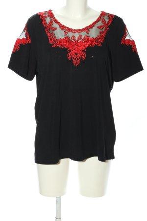 Komplimente T-Shirt schwarz-rot Casual-Look