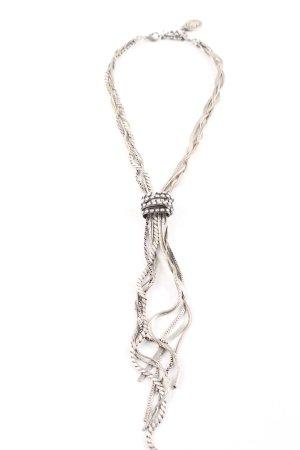 Komplott Statement Necklace silver-colored elegant
