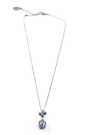 Konplott Halskette bronzefarben-blau Casual-Look
