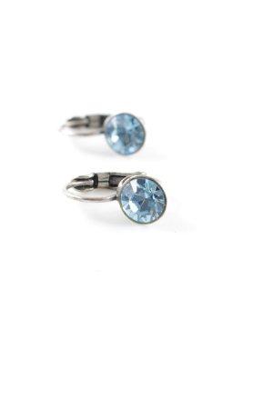 Konplott Pendientes colgante azul-color plata