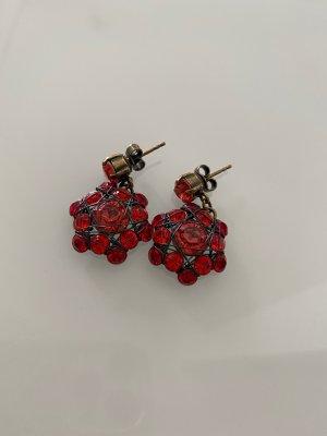 Konplott Ohrringe Stecker hängend rot