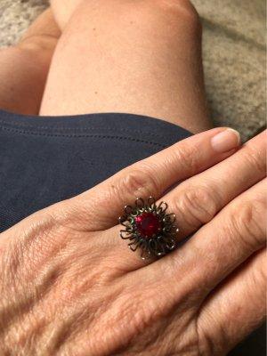 Konplott Statement Ring bronze-colored-dark red