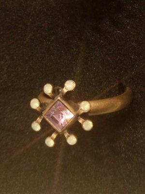 KONPLOTT Ring Sea Breeze lila / hellgrün opal