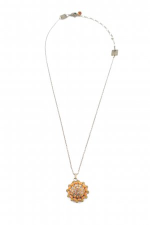 Konplott Statement Necklace light orange-bronze-colored casual look