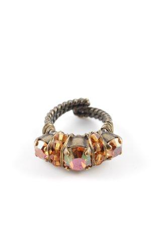 Konplott Bague incrustée de pierres multicolore style décontracté