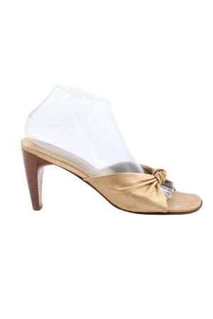 Konstantin Starke Heel Pantolettes gold-colored casual look