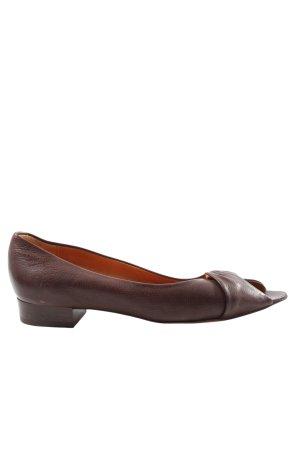 Konstantin Starke Peep Toe Ballerinas brown casual look
