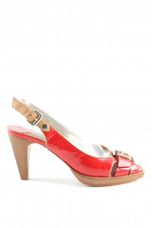 Konstantin Starke Peeptoe Pumps rot-braun Business-Look