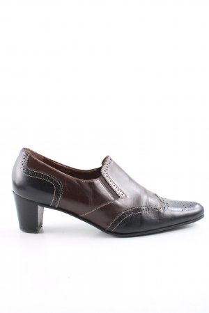 Konstantin Starke Spitz-Pumps schwarz-braun Business-Look