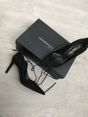 Konstantin Starke Lace-up Pumps black leather