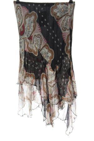 Kontatto Asymmetry Skirt allover print casual look