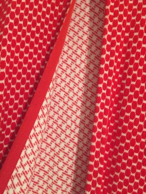 Kontatto Cardigan Rot Weiß One Size