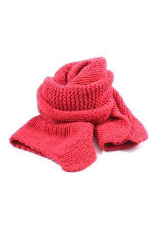 Kontatto Szydełkowany szalik czerwony W stylu casual