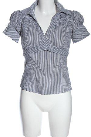 Kontatto Camicia blusa grigio chiaro-bianco stampa integrale stile professionale