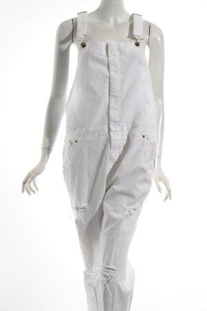 Kontatto Jeans met bovenstuk wit ontspannen stijl