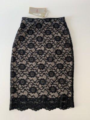 Kontatto Lace Skirt black-nude