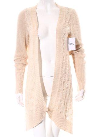 Kontatto Cardigan in maglia beige chiaro stile classico