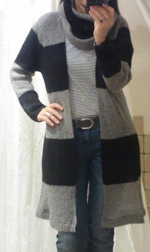 Kontatto Cardigan a maglia grossa nero-grigio Acrilico