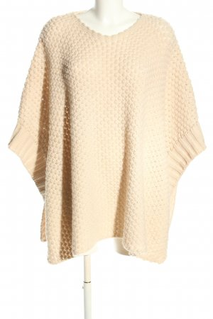 Kontatto Knitted Poncho natural white casual look