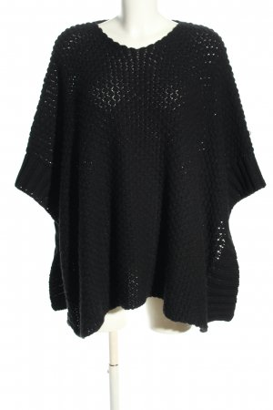 Kontatto Knitted Poncho black casual look