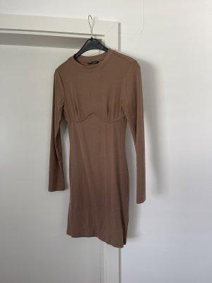 Konturen Kleid Dekolleté Langarm Midikleid