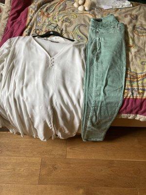 Conleys Blouse Shirt beige-lime-green