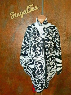 KOOI Knitwear Abrigo de punto blanco-negro