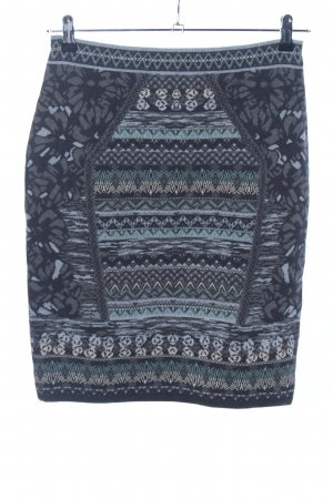 KOOI Knitwear Wollrock blau Allover-Druck Casual-Look