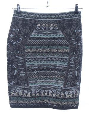 KOOI Knitwear Wollrock blau Allover-Druck Casual-Look