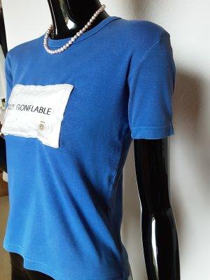 Kookai, blaues Shirt mit aufblasbaren Kissen, Gr. 34
