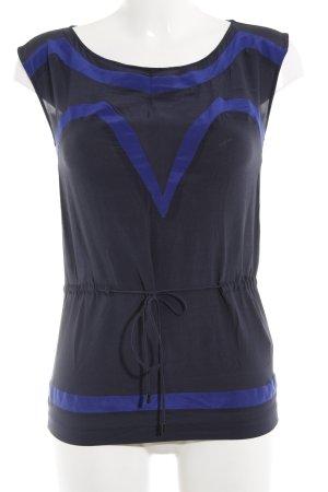Kookai Blusentop schwarz-blau Casual-Look