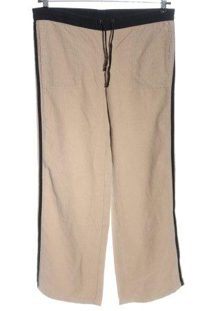 Kookai Pantalone di velluto a coste crema-nero stile casual