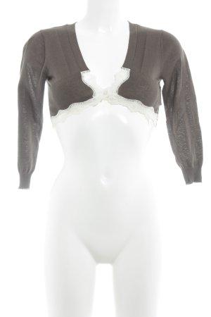 Kookai Cropped Shirt wollweiß-dunkelbraun Casual-Look
