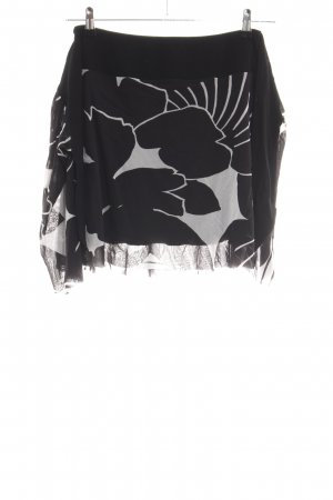 Kookai Faltenrock schwarz-weiß abstraktes Muster Casual-Look