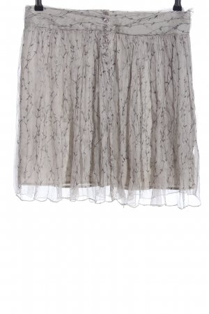 Kookai Flared Skirt light grey allover print casual look