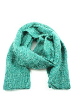Kookai Écharpe en crochet turquoise-blanc moucheté style décontracté