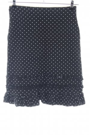 Kookai Rok met hoge taille zwart-wit gestippeld patroon casual uitstraling
