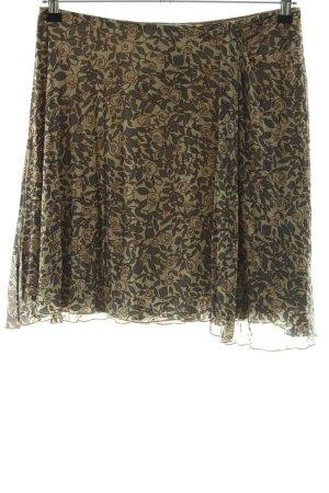 Kookai High Waist Rock khaki-bronzefarben Blumenmuster Casual-Look