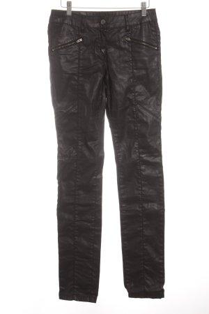 Kookai pantalón de cintura baja negro estilo clásico